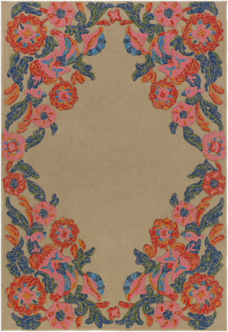 Artistic Weavers Mayan Polo Carnation Pink/Navy Blue Area Rug main image