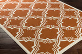 Artistic Weavers Myrtle Honolulu Dark Orange/Ivory Area Rug Corner Shot