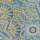 Artistic Weavers Myrtle St Simons Denim Blue/Lime Green Area Rug Swatch