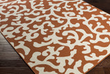 Artistic Weavers Myrtle Vancouver Bright Orange/Ivory Area Rug Corner Shot