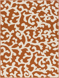 Artistic Weavers Myrtle Vancouver Bright Orange/Ivory Area Rug main image