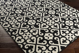 Artistic Weavers Myrtle Scarborough Onyx Black/Ivory Area Rug Corner Shot