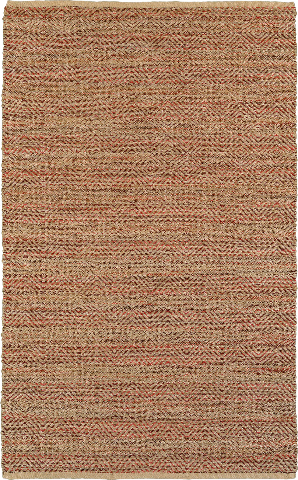 LR Resources Natural Fiber 3310 Burgundy Area Rug main image