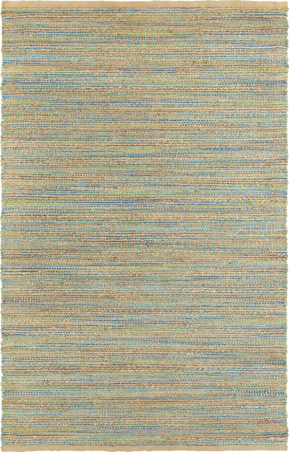 LR Resources Natural Fiber 3313 Blue / Green Area Rug main image