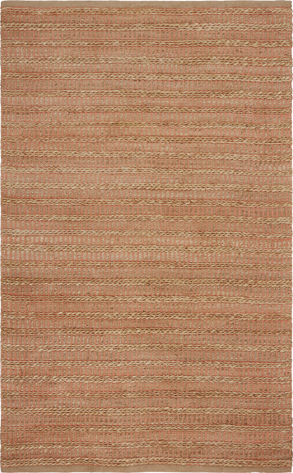 LR Resources Natural Fiber 3316 Fusion Coral Area Rug main image