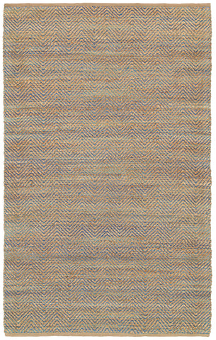 LR Resources Natural Fiber 03322 Blue Hand Woven Area Rug