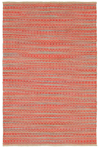 LR Resources Natural Fiber 03331 Red Area Rug