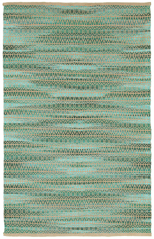 LR Resources Natural Fiber 03332 Green Area Rug