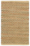 LR Resources Natural Fiber 03345 Dark Rust Hand Woven Area Rug 7'9'' X 9'9''