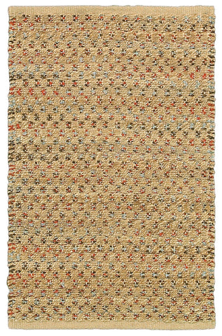 LR Resources Natural Fiber 03345 Dark Rust Area Rug