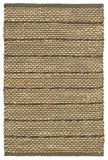 LR Resources Natural Fiber 03346 Brown Hand Woven Area Rug 7'9'' X 9'9''