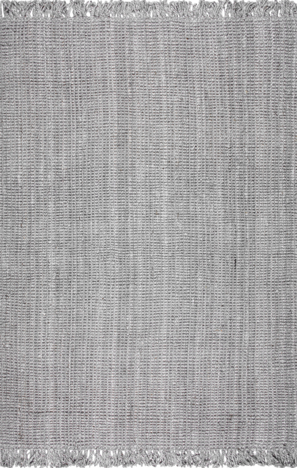 nuLOOM Jute Hand Woven Chunky Loop NCCL01G Grey Area Rug main image