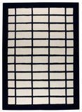MAT Vinson New York White/Charcoal Area Rug main image