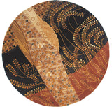 Momeni New Wave NW-01 Willow Black Area Rug Room Scene