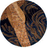 Momeni New Wave NW-01 Willow Blue Area Rug Room Scene