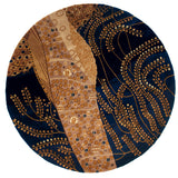 Momeni New Wave NW-01 Willow Blue Area Rug Close up