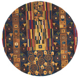 Momeni New Wave NW-02 Ziggy Blue Area Rug Room Scene