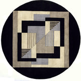 Momeni New Wave NW-06 Contempo Black Area Rug Detail Shot