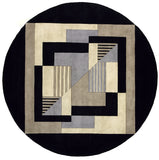 Momeni New Wave NW-06 Contempo Black Area Rug Close up
