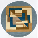 Momeni New Wave NW-06 Contempo Blue Area Rug Detail Shot