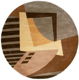 Momeni New Wave NW-22 Ltbrown Area Rug Close up