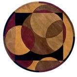 Momeni New Wave NW-78 Brown Area Rug Close up