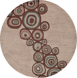 Momeni New Wave NW120 Mushroom Area Rug Room Scene