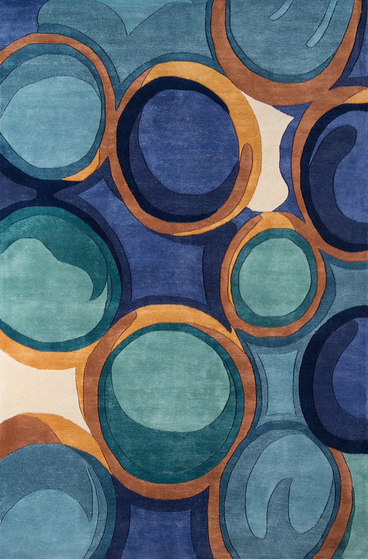 Momeni New Wave NW133 Blue Area Rug main image