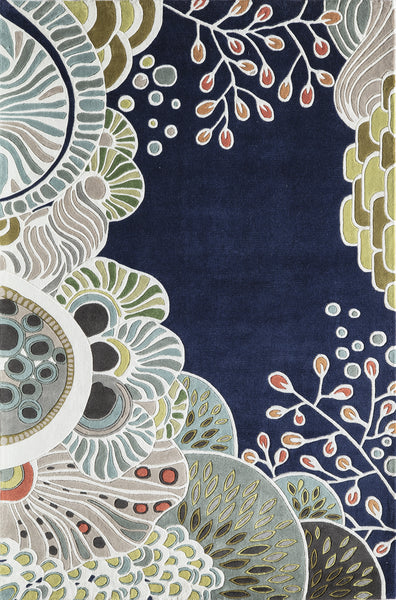 Momeni New Wave Nw146 Navy Area Rug Incredible Rugs And Decor