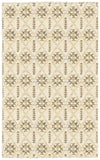 LR Resources Nisha 04401 Cream Hand Knotted Area Rug 5'3'' X 7'5''