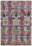 LR Resources Nisha 04402 Multi Area Rug 7'9'' X 9'9''
