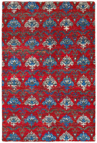 LR Resources Nisha 04403 Red Multi Area Rug