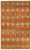 LR Resources Nisha 04405 Rust Hand Knotted Area Rug 5'3'' X 7'5''