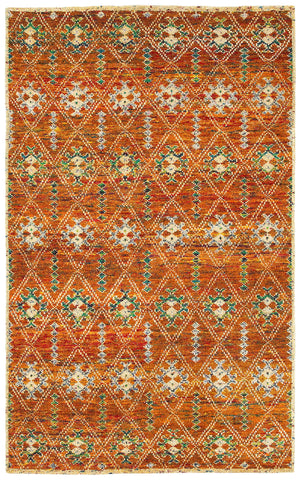 LR Resources Nisha 04405 Rust Area Rug