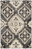 LR Resources Nisha 04406 Gray Hand Knotted Area Rug 4' X 6'