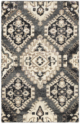 LR Resources Nisha 04406 Gray Area Rug