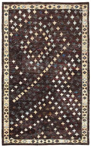 LR Resources Nisha 04407 Brown Area Rug
