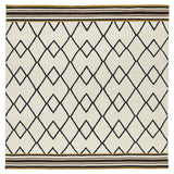Kaleen Nomad NOM03 Black Area Rug Square Shot