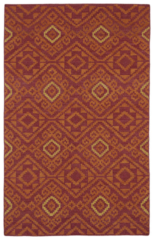 Kaleen Nomad NOM05 Red Area Rug