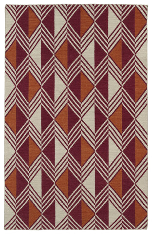 Kaleen Nomad NOM06 Red Area Rug