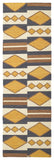 Kaleen Nomad NOM07 Gold Area Rug Runner Shot