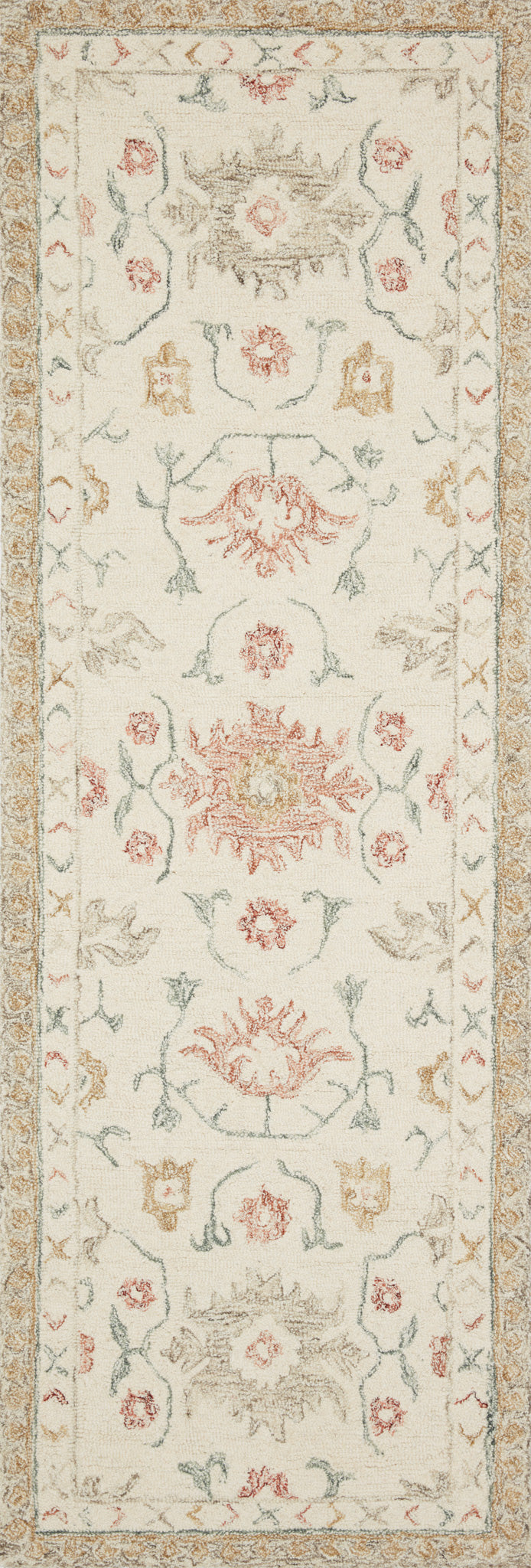 Loloi Norabel NOR-03 Ivory/Rust Area Rug main image