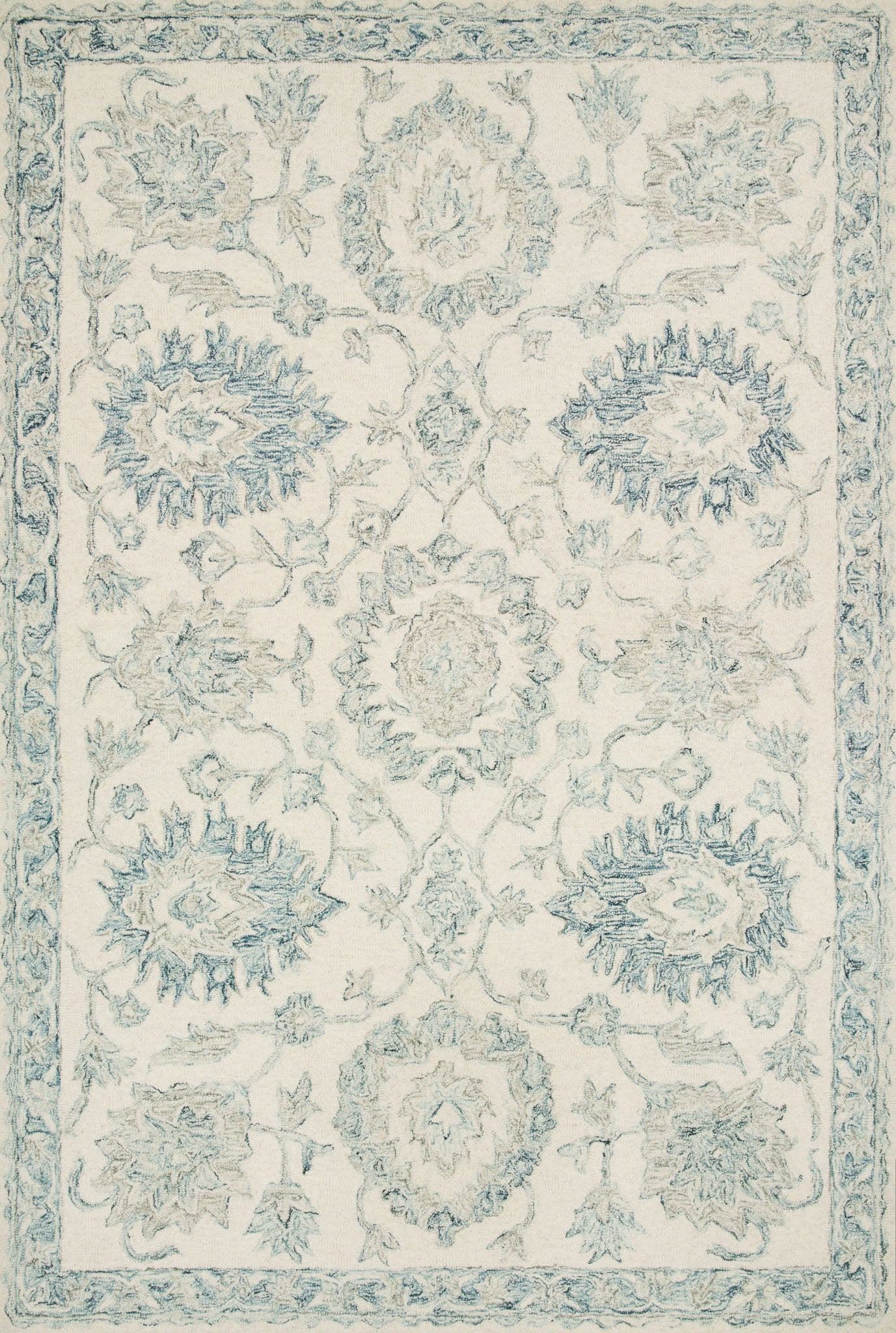 Loloi Norabel NOR-04 Ivory/Blue Area Rug main image