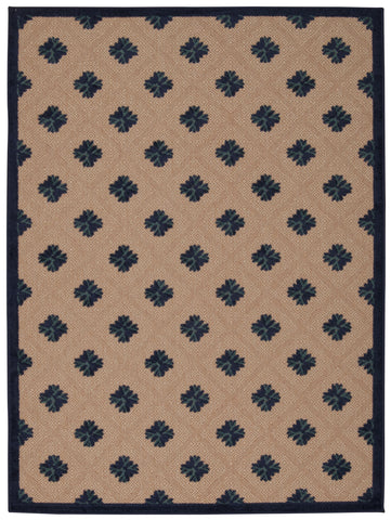 Nourison Aloha ALH02 Navy Machine Woven Area Rug