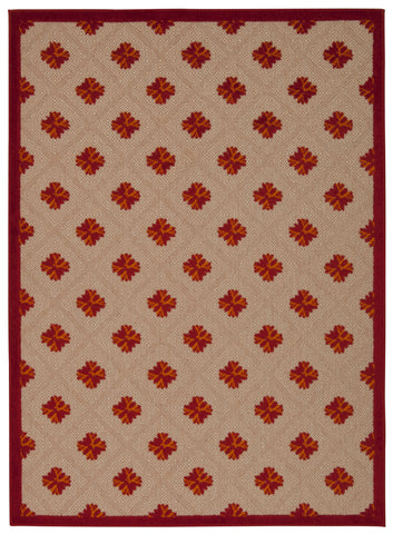 Nourison Aloha ALH02 Red Machine Woven Area Rug