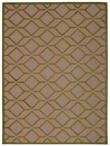 Nourison Aloha ALH03 Green Machine Woven Area Rug