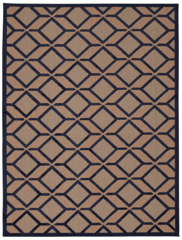 Nourison Aloha ALH03 Navy Machine Woven Area Rug