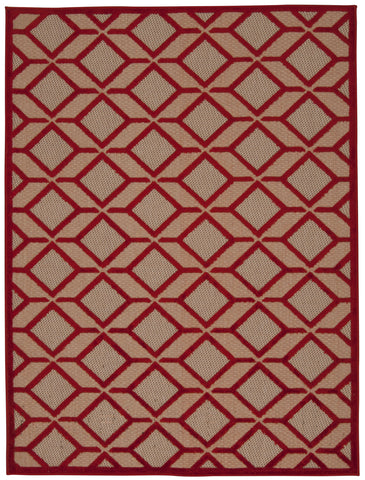 Nourison Aloha ALH03 Red Machine Woven Area Rug