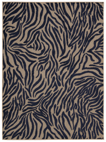Nourison Aloha ALH04 Navy Machine Woven Area Rug
