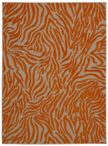 Nourison Aloha ALH04 Orange Machine Woven Area Rug